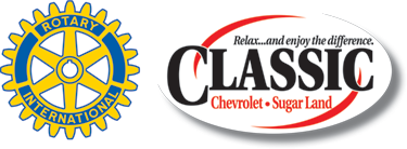 Classic Chevrolet and Rotary Club Sugar Land logos