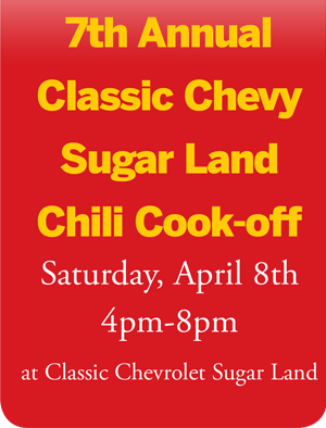 7th Annual Classic Chevrolet Sugar Land Chili Cookoff