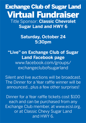 Exchange Club of Sugar Land Fundraiser